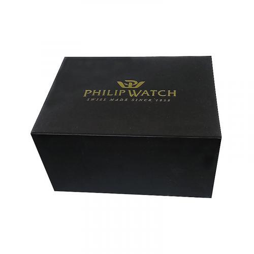 Orologio Uomo Philip Watch Sunray Cronografo 39mm Pelle Marrone Finiture Gialle