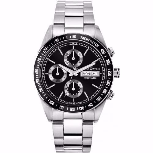 Orologio Uomo Philip Watch Caribe Cronografo Auto 41mm Acciaio Nero