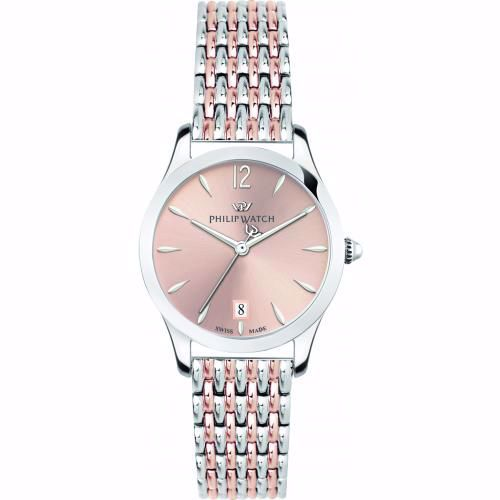 Orologio Donna Philip Watch Grace Quarzo 32mm Acciaio Quadrante Rosa