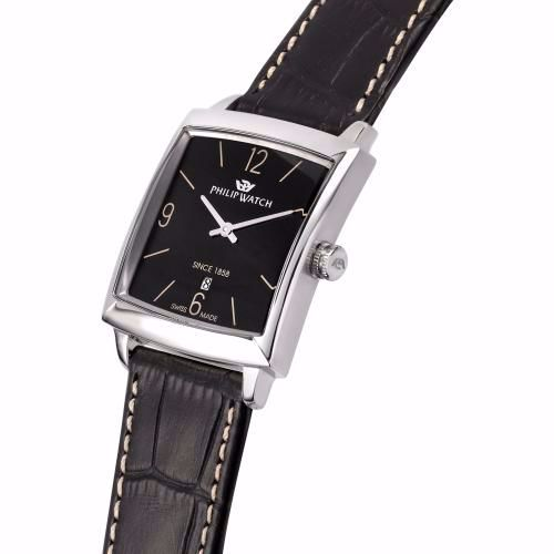 Orologio Uomo Philip Watch Newport 30mm Pelle Nero