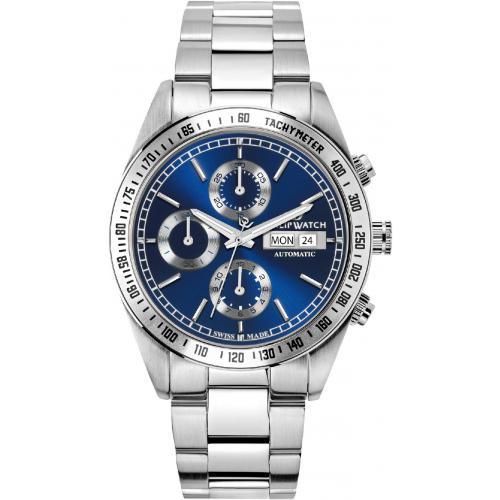 Orologio Uomo Philip Watch Caribe Cronografo Auto 41mm Acciaio Blu