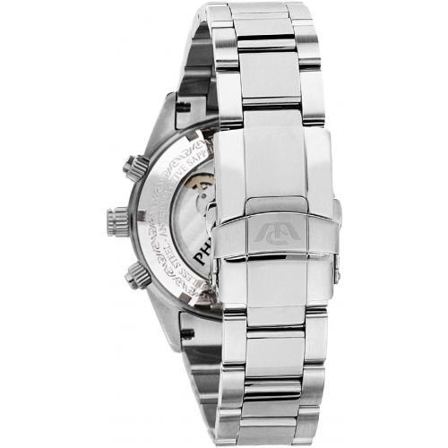 Orologio Uomo Philip Watch Caribe Cronografo Auto 41mm Acciaio Silver