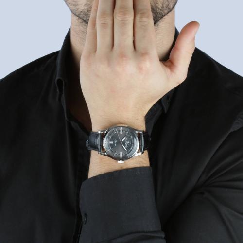 Orologio Uomo Philip Watch Sunray Quarzo 39mm Pelle Nero