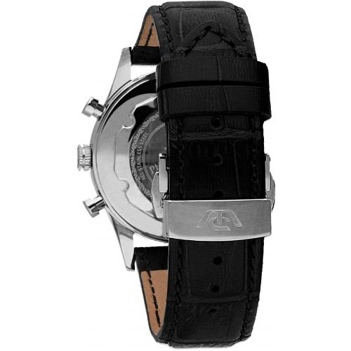 Orologio Uomo Philip Watch Sunray Cronografo 39mm Pelle Nero Finiture Rosé