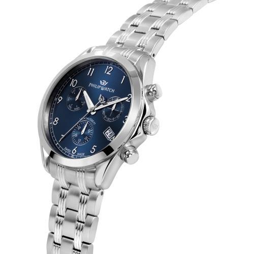 Orologio Uomo Philip Watch Blaze Cronografo 41mm Acciaio Quadrante Blu