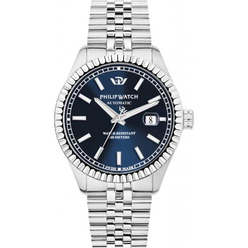 Orologio Uomo Philip Watch Caribe Automatico 41mm Acciaio Blu