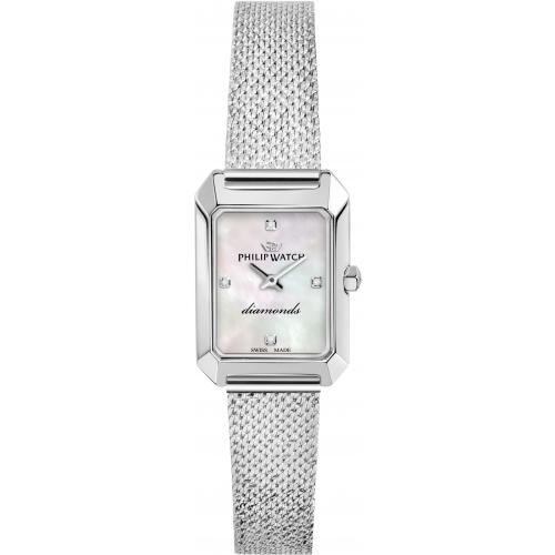 Orologio Donna Philip Watch Newport 21mm Acciaio Madreperla Diamanti