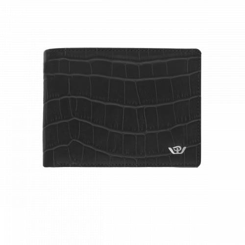 Portafoglio Philip Watch Coccodrillo Nero con Logo