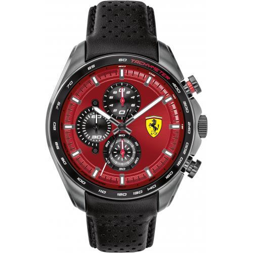 Orologio Uomo Ferrari Speedracer Cronografo 47mm Pelle Nero