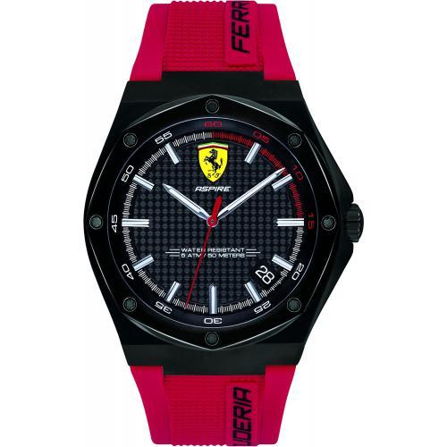 Orologio Uomo Ferrari Aspire Quarzo 44mm Silicone Rosso Gift Box