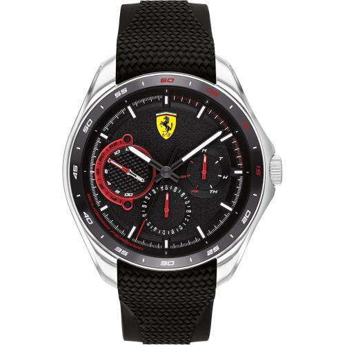 Orologio Uomo Ferrari Speedracer Multifunzione 47mm Silicone Nero
