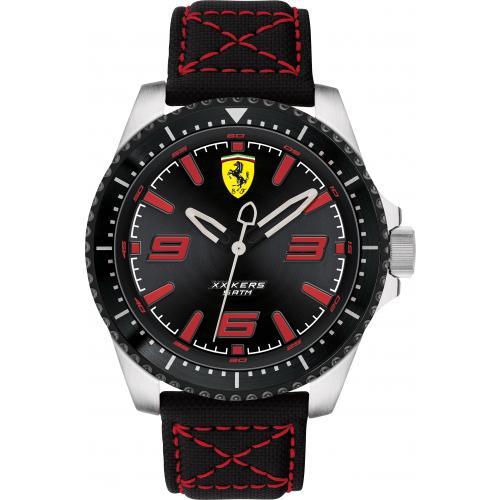 Orologio Ferrari XX Kers Uomo Cordura Nero Quadrante Nero Rosso 46 mm
