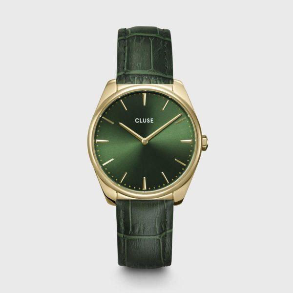 Orologio Donna Cluse Féroce Quarzo 36mm Pelle Verde