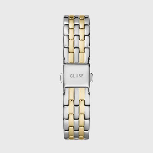 Cinturino Orologio Cluse 16mm Multi-Link Silver Finiture Gialle