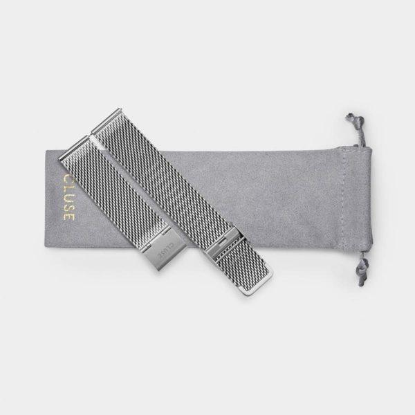 Cinturino Orologio Cluse 20mm Mesh Silver