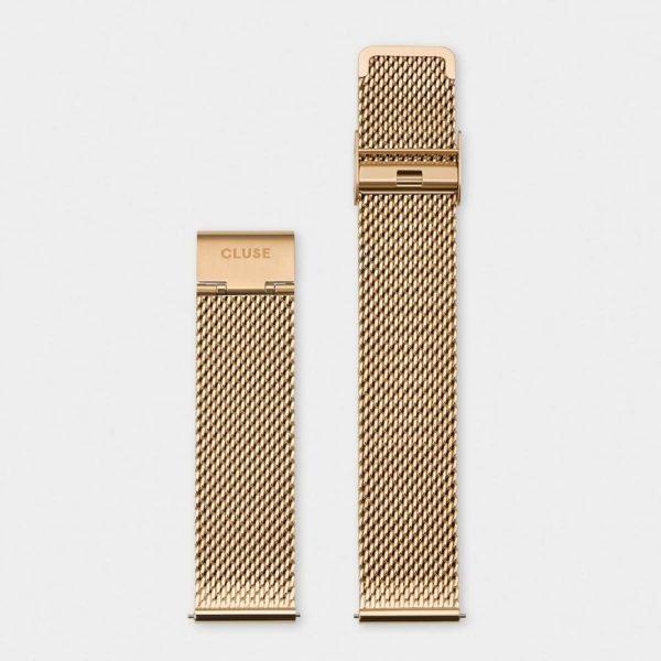 Cinturino Orologio Cluse 20mm Mesh PVD Oro Giallo