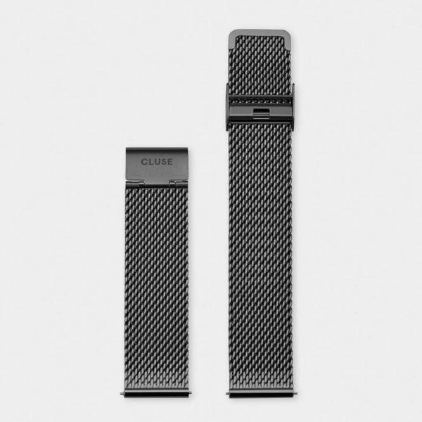 Cinturino Orologio Cluse 20mm Mesh PVD Nero