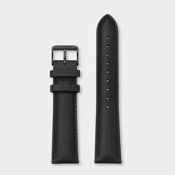 Cinturino Orologio Cluse 20mm Pelle Nero