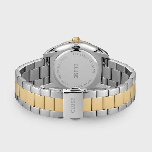Orologio Donna Cluse Féroce 3-Link Quarzo 36mm Silver PVD Giallo