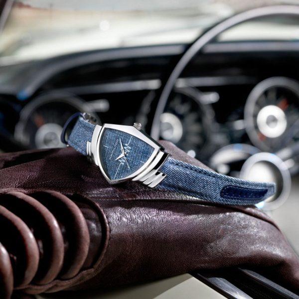 Orologio Hamilton Ventura Quartz Jeans Silver Small