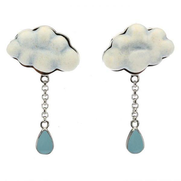 Thun Orecchini Current Nuvola Pioggia Di Colori
