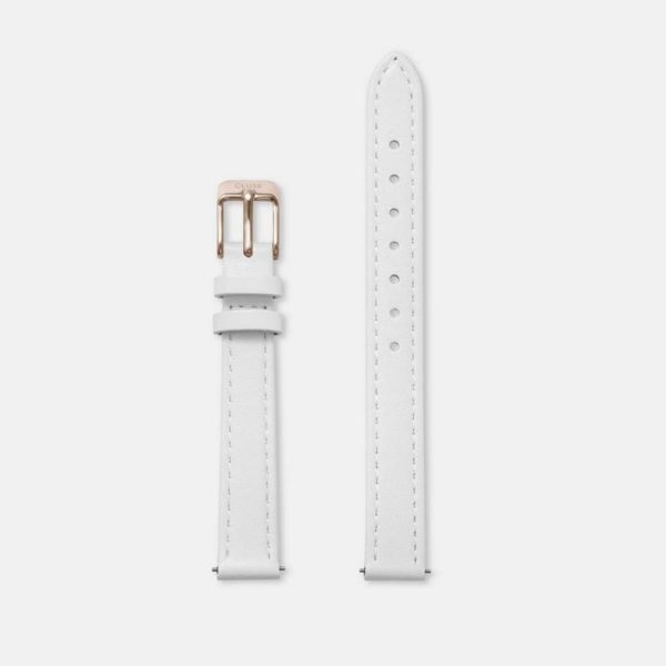 Cinturino Orologio Cluse 12mm Pelle Bianco