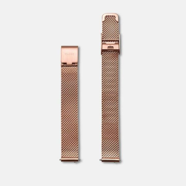 Cinturino Orologio Cluse 12mm Mesh PVD Oro Rosa