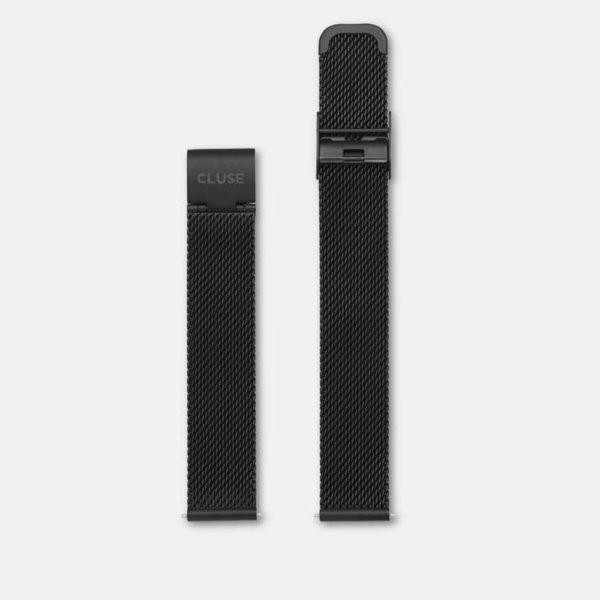 Cinturino Orologio Cluse 16mm Mesh PVD Nero