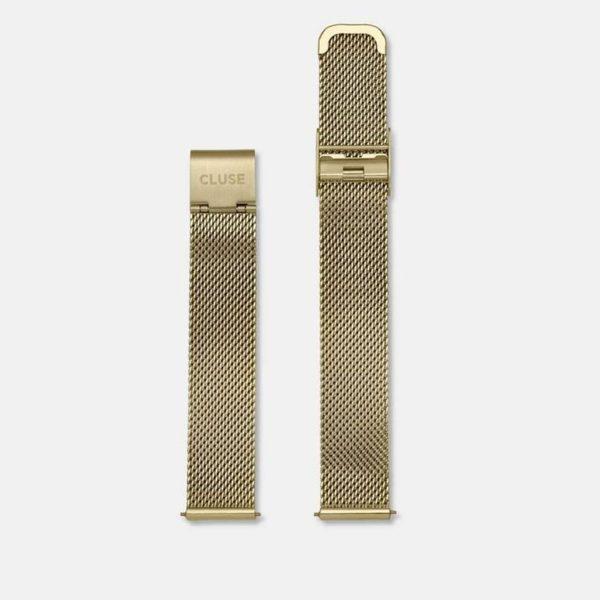 Cinturino Orologio Cluse 16mm Mesh PVD Oro Giallo