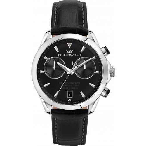 Orologio Uomo Philip Watch Blaze Cronografo 41mm Pelle Nero