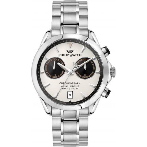 Orologio Uomo Philip Watch Blaze Cronografo 41mm Acciaio Quadrante Avorio
