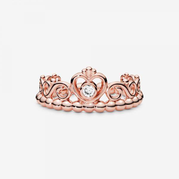 Anello Donna Pandora Tiara Principesca Oro Rosa