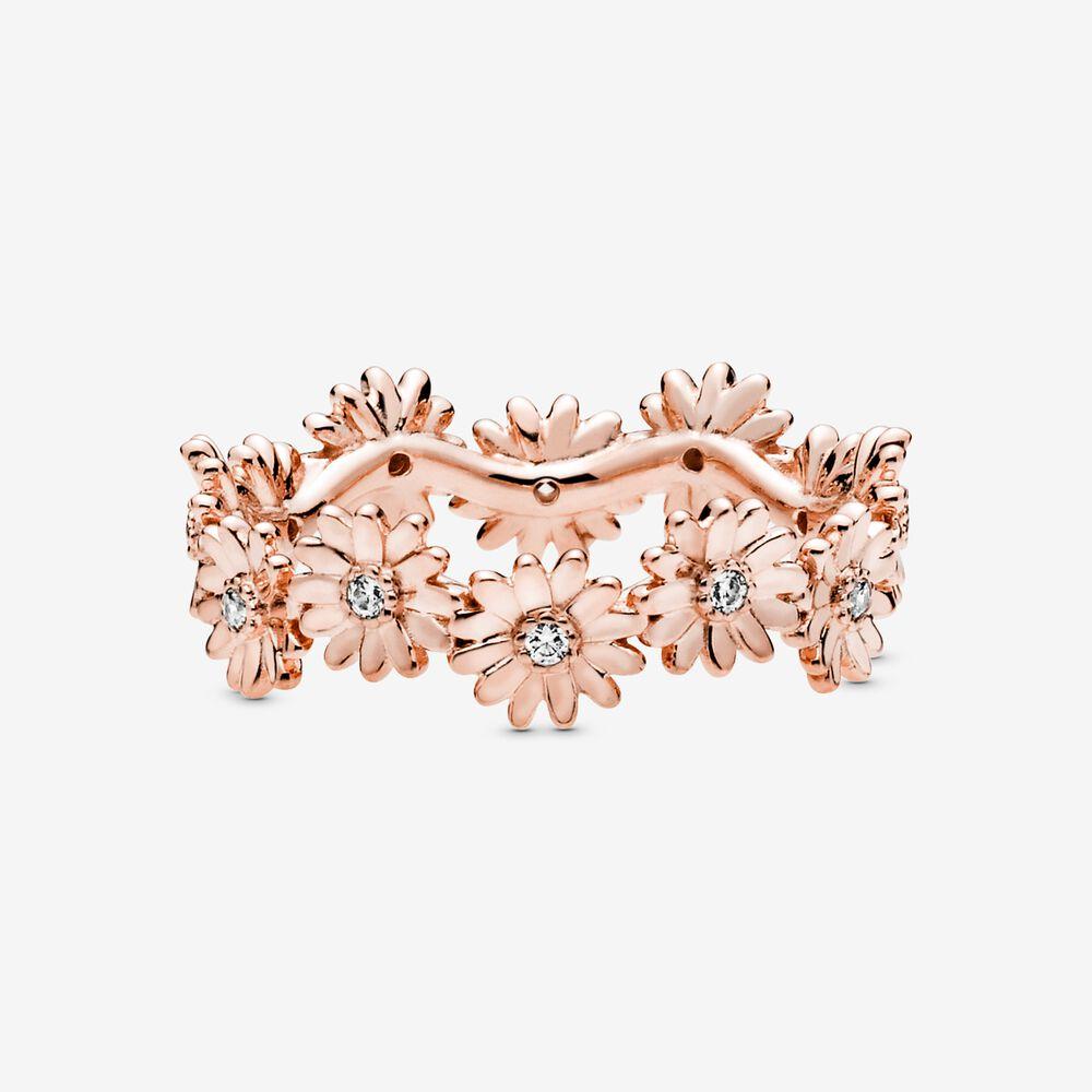 Anello Donna Pandora Corona Margherita Scintillante Oro Rosa