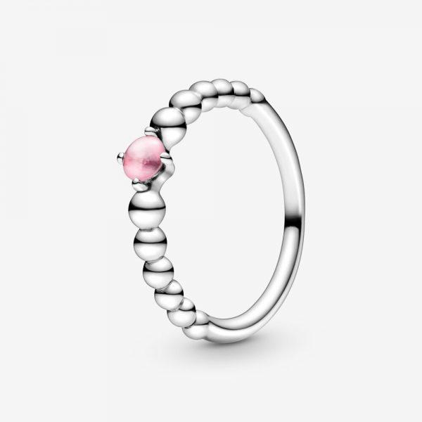 Anello Donna Pandora Petalo Rosa Decorato Con Sfere