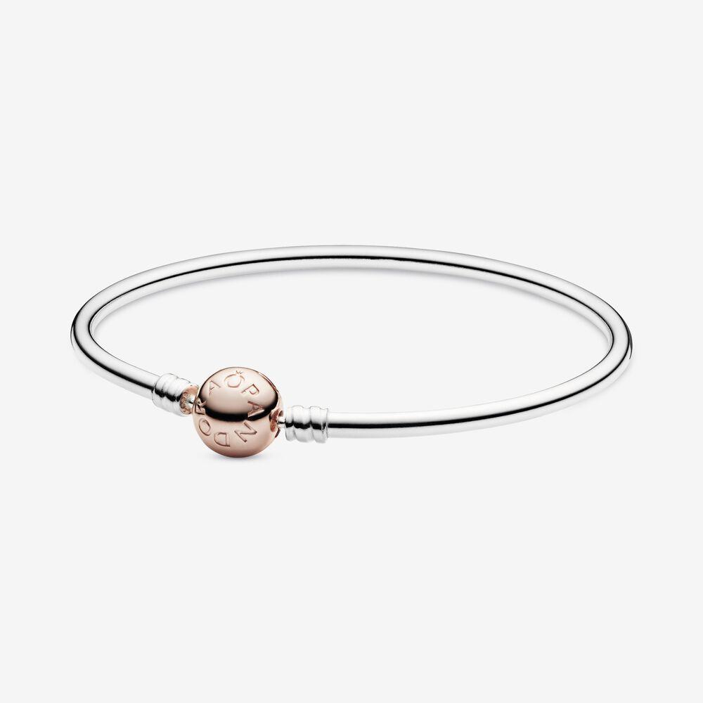 Bracciale Donna Pandora Moments Rigido Chiusura Oro Rosa