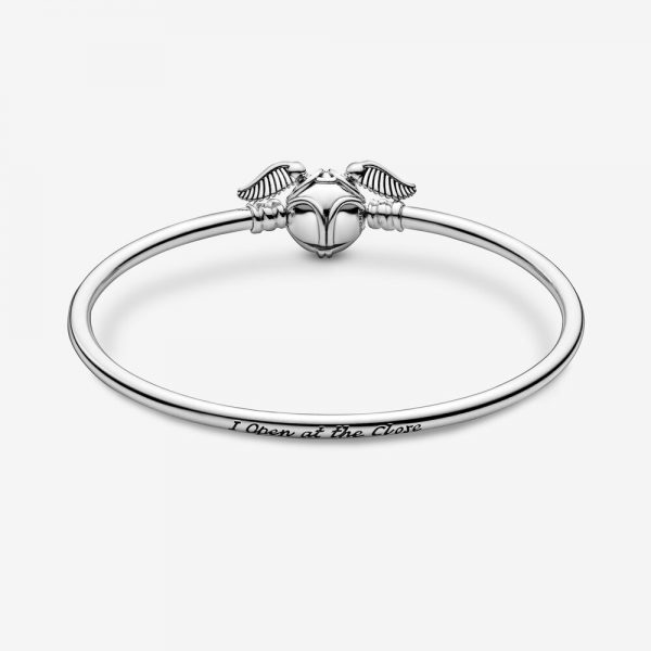 Bracciale Donna Pandora Moments Rigido Harry Potter Chiusura Boccino D'Oro