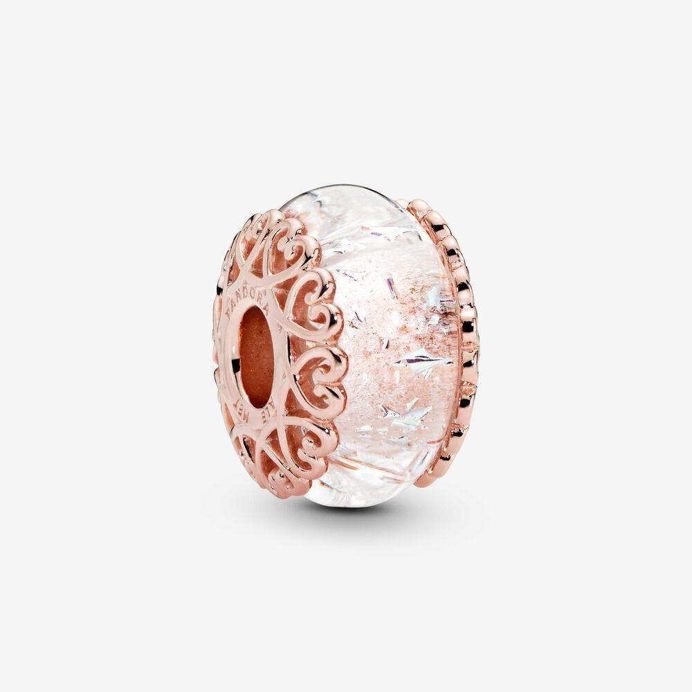 Charm Pandora Donna Vetro Di Murano Iridescente