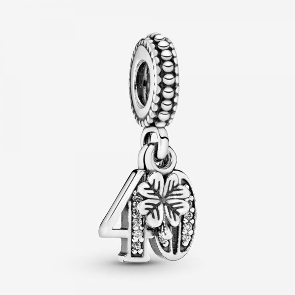 Charm Pandora Donna  Pendente  40° Compleanno