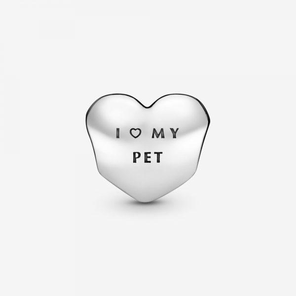 Charm Pandora Donna Cuore Con Zampa Amo Il Mio Cucciolo