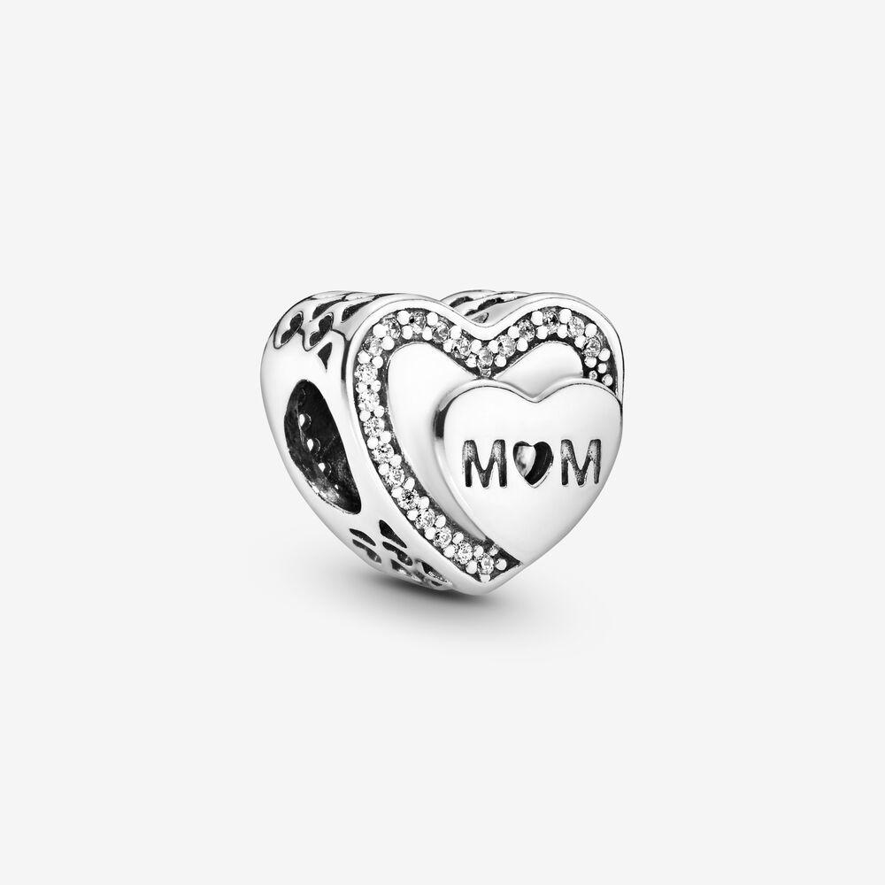 Charm Pandora Donna Cuore Scintillante Mamma