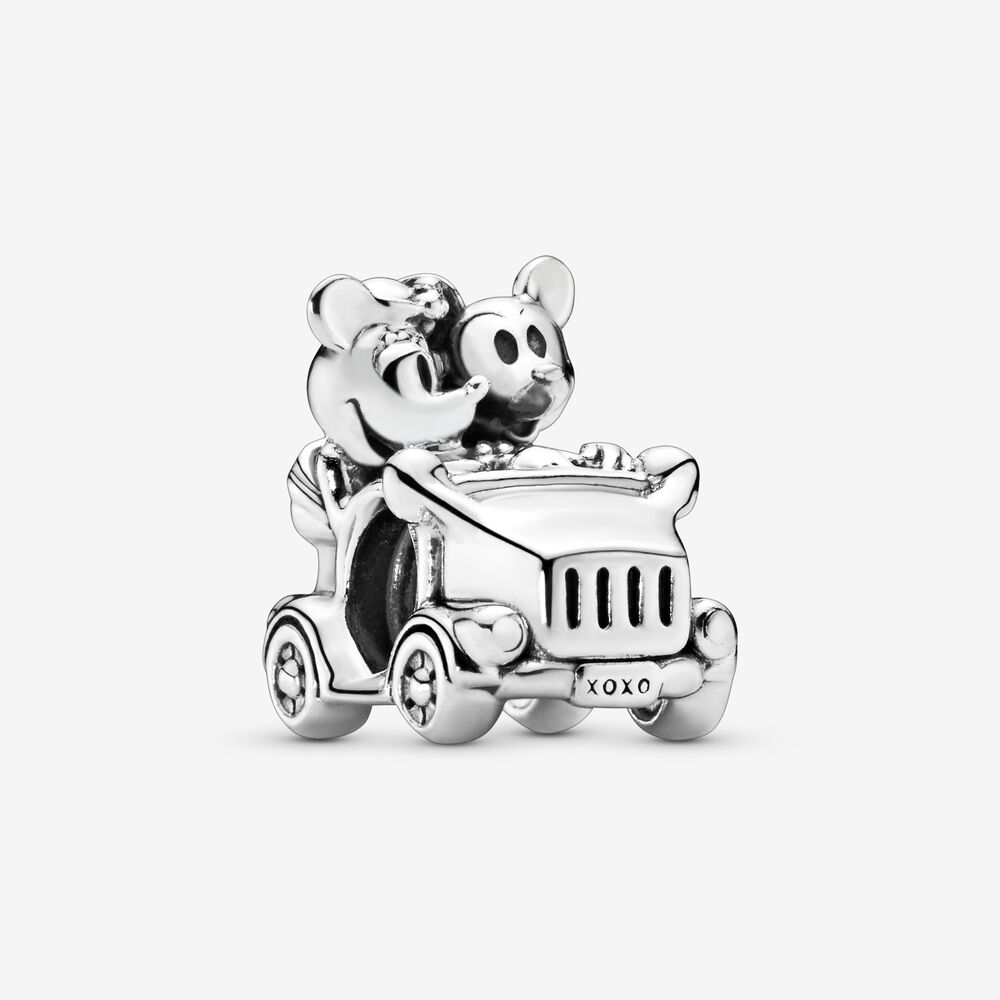 Charm Donna Pandora  Disney L'Auto Di Mickey Mouse E Minnie