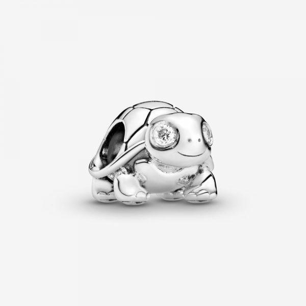 Charm Pandora Donna Tartaruga Adorabile Scintillante