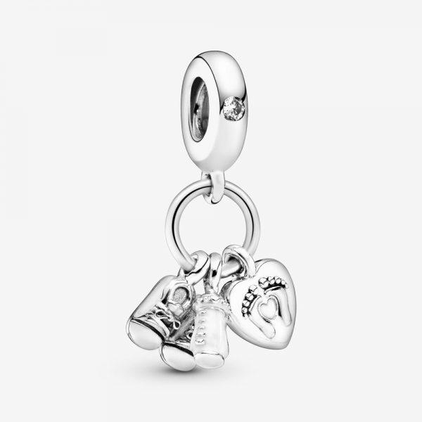 Charm Pandora Donna  Pendente Scarpine E Biberon Bebè