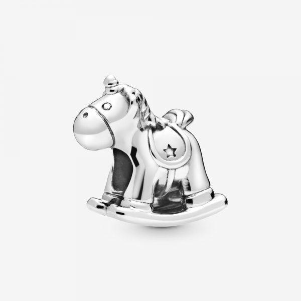 Charm Pandora Donna Bruno L'Unicorno, Cavallo A Dondolo