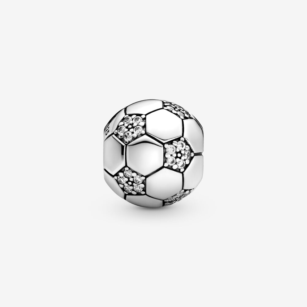 Charm Donna Pandora Pallone Da Calcio Scintillante