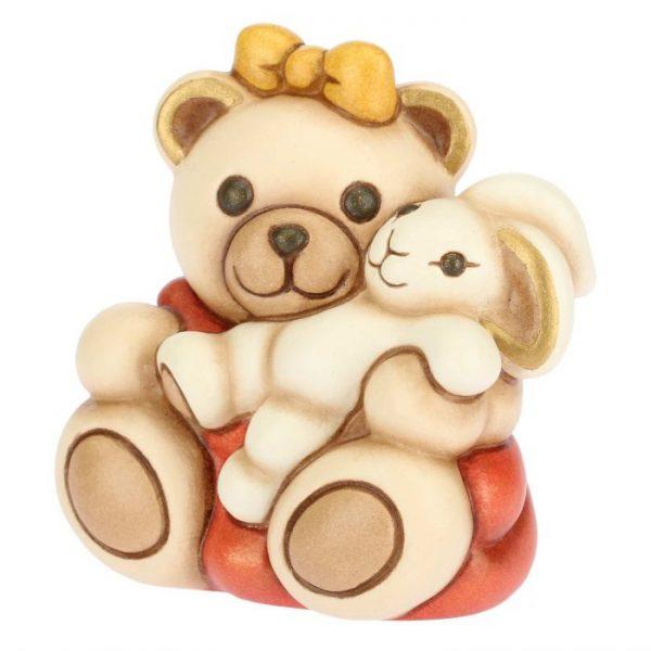 Thun Teddy Bimba Piccola Con Coniglio