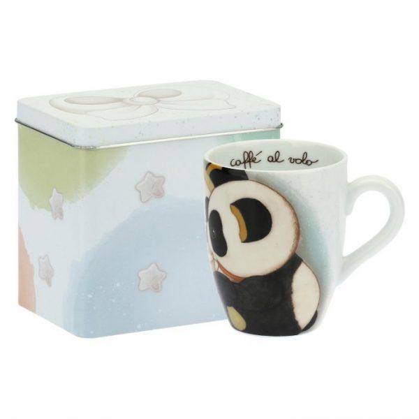 Thun Mug Con Scatola In Latta Panda Gemelli Oroscopo