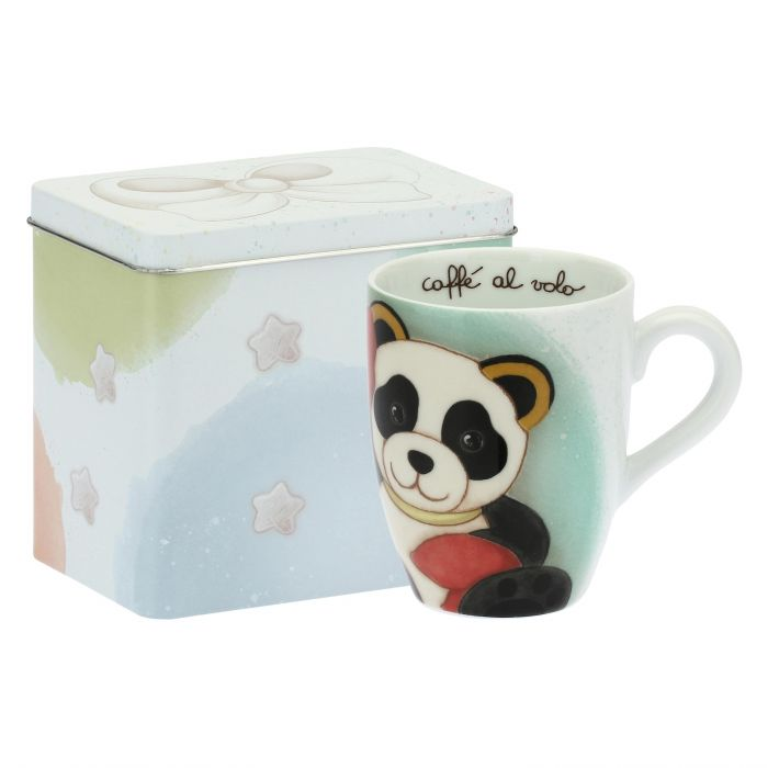 Thun Mug Con Scatola In Latta Panda Cancro Oroscopo