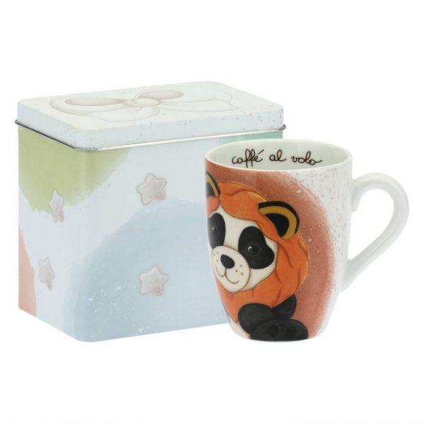 Thun Mug Con Scatola In Latta Panda Leone Oroscopo