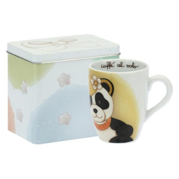 Thun Mug Con Scatola In Latta Panda Vergine Oroscopo